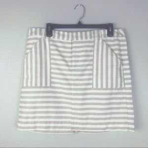 LOFT Factory Striped Mini Skirt With Front Pockets